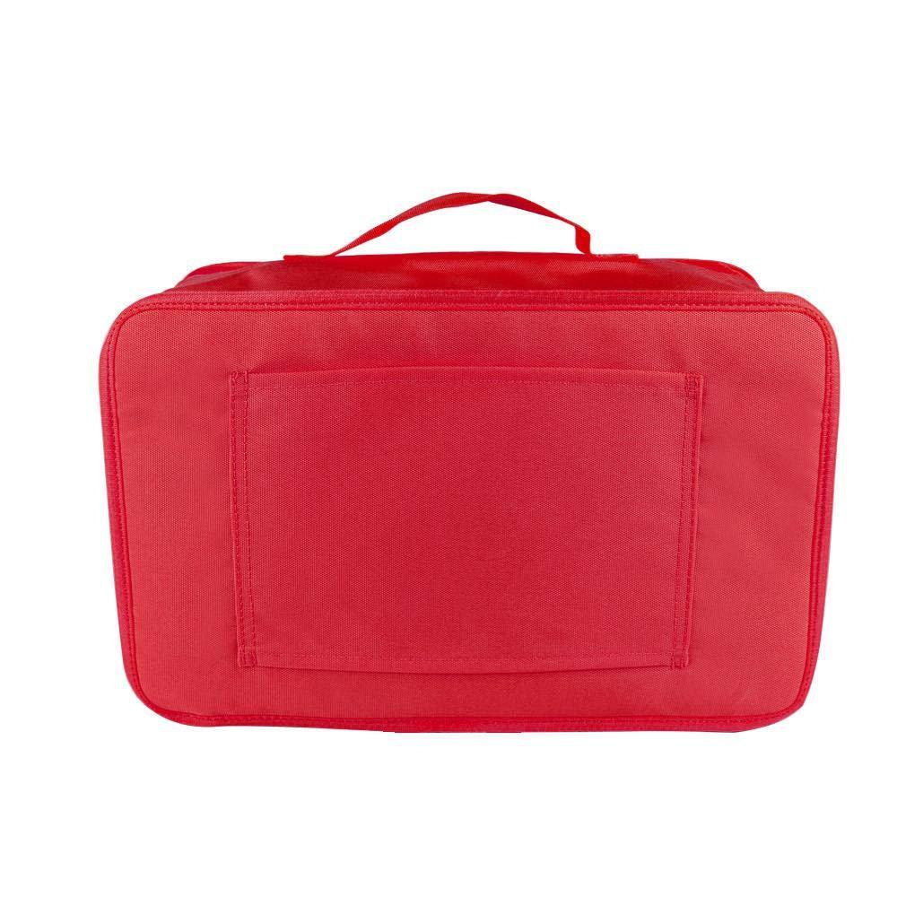 FOONEE Voyage Bagages Organiseur étagère, 3Couche Sac de Rangement Petite Valise, Pliable à Suspendre Voyage étagères et Cube d'emballage Pochette de Rangement. 3Couche Sac de Rangement Petite Valise