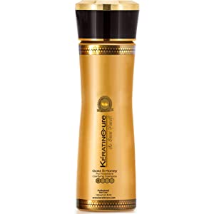 Keratin Cure Gold Honey Hair Clarifying Deep Cleansing Best Quality Safety & REAL results Anti-Residue moisturizing ingredients Lightweight & non greasy 160ML /5.41 FL OZ