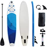 Gout Surf Ultra-Light Inflatable SUP Stand Up iSUP Paddle Board (6 Inches Thick) Universal Wide Stance w/Bottom Fin for Paddling and Surf Control | Non-Slip Deck | Youth and Adult