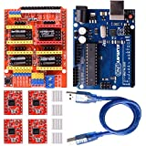kuman CNC Shield Expansion Board V3.0 +UNO R3 Board + A4988 Stepper Motor Driver With Heatsink for Arduino Kits K75 (CNC Shield+UNO R3+Stepper Motor)