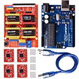 arduino motor shield kit - kuman CNC Shield Expansion Board V3.0 +UNO R3 Board + A4988 Stepper Motor Driver With Heatsink for Arduino Kits K75