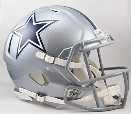 9ac4b526463 Amazon.com   Riddell Dallas Cowboys NFL Authentic Speed Revolution Full  Size Helmet from   Sports Fan Football Helmets   Sports   Outdoors