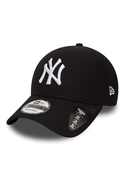 A NEW ERA Gorra 9Forty MLB York Yankees Diamond Negro/Blanco Talla: Ajustable