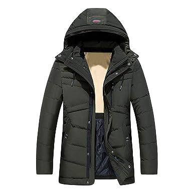 Kapuze Gefüttert Warme Winterjacke mit Celucke Herren 3jL4AR5