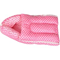 Orange and Orchid 3 In 1 Cotton Bed Cum Baby Sleeping Bag, Pink