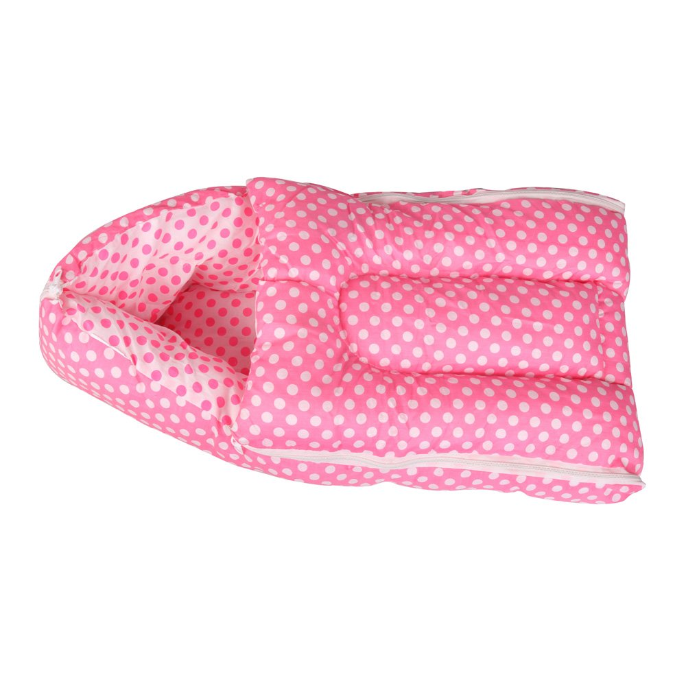 Buy Orange And Orchid 3 In 1 Cotton Bed Cum Baby Sleeping Bag Pink Online At Low Prices India