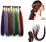Mixed color Synthetic Feather Hair Extension Kit Multi Mixed color 50