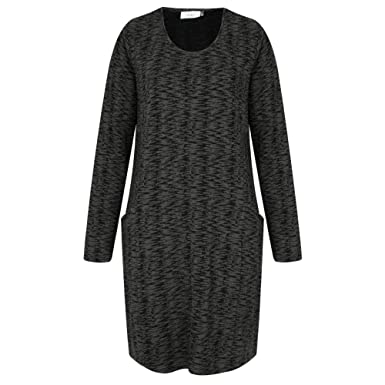 2fa67bd628e Adini - Pemberton Weave Valley Tunic, Charcoal, Small(UK10): Amazon.co.uk:  Clothing