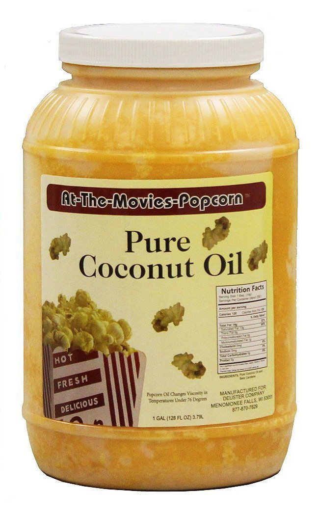 Coconut Popcorn Popping Oil (Single Gallon) by At-The-Movies-Popcorn