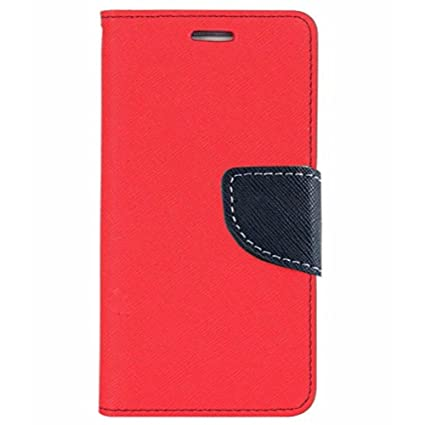 Avzax Luxury Magnetic Lock Diary Wallet Style Flip Cover Case for Micromax Vdeo 4 Q4251   Red Mobile Accessories