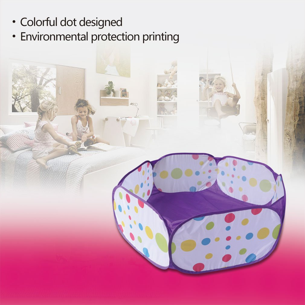 Kids Ball Pit, Karida Large Pop Up Toddler Ball Pits Tent for Toddlers, Children for Indoor Outdoor Baby Ball Pool Playpen with Zipper Storage Bag, Balls Not Included (Purple) by Karida (Image #8)
