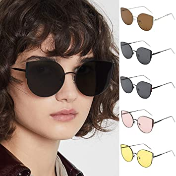 Cat Eye Sunglasses Ladies Womens Retro Vintage Shade Oversized Shield Glasses