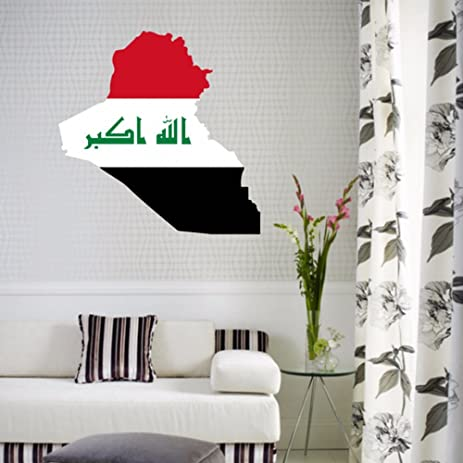 Irak flag map of iraq wall vinyl sticker custom home decoration wall sticker wedding decoration pvc