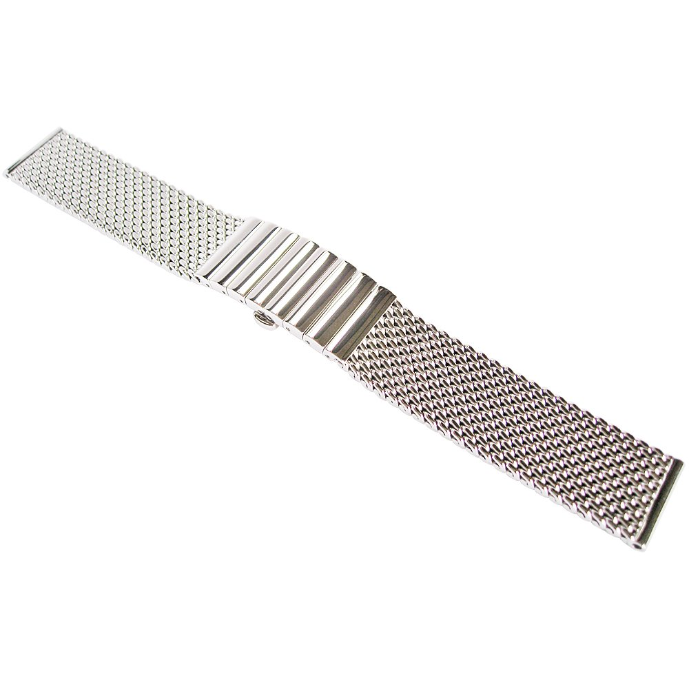 Staib 20mm Polished Mesh 130mm Steel Watch Band Model 2792