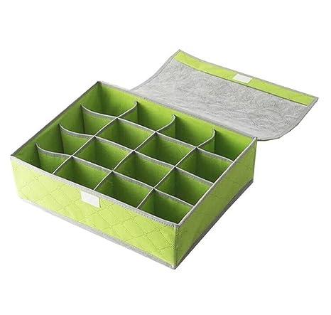 iTemer bonito organizador de ropa interior sujetador cajones caja de almacenaje contenedores 24 Grids para calcetines