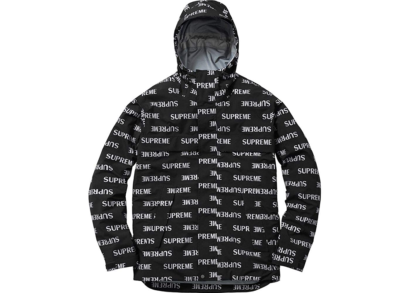 Supreme 3m Reflective Repeat Taped Seam Jacket Black At Men S Clothing
