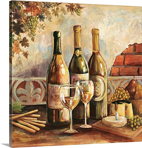Gregory Gorham Premium Thick-Wrap Canvas Wall Art Print entitled Bountiful Wine Square I 36