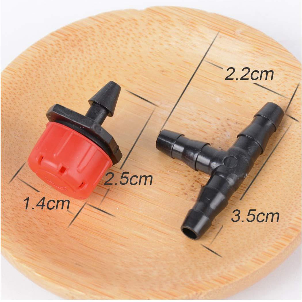Queenhairs 200 T-St/ück Bew/ässerung Tropfer Schlauch 4//7mm Micro-Drip Bew/ässerungssystem Garten Bew/ässerungsset Micro Tropfbew/ässerung Verstellbar Kunststoff Schlauchverbindung Abzweigung Wasserspender