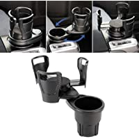 Cup Holder for Car Multi-functional Car Auto Universal Carbon Fiber Texture Cup Holder Drink Holder, Suitable for Car