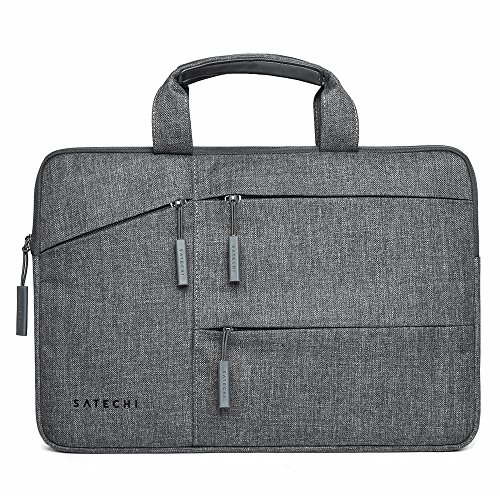 Satechi Water-Resistant Laptop Bag Carrying Case with Pockets - Compatible with MacBook Pro 15, HP Spectre x360 15, Dell XPS 15 and More (15 Inch)