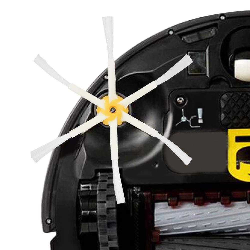 Duokon 5 Pezzi Parti di Ricambio spazzole Laterali per IROBOT Roomba 500 600 700 Series