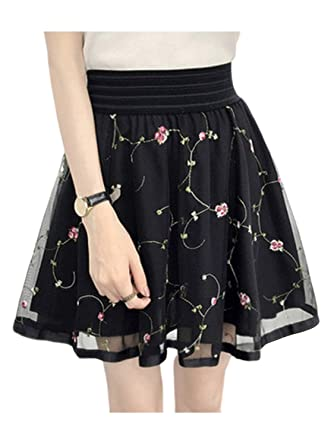 611070f19cc11d Women's Polka Dots Midi Skater Skirts Flared A-line Skirts (Small,  Embroidery-