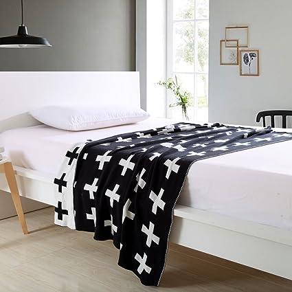 Amazon Novohouse Cross Pattern Knitted Blanket Warm Soft