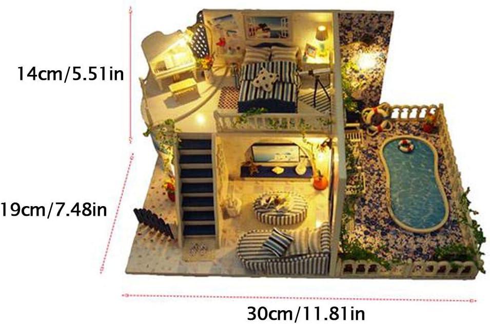 Ardentity - Miniatura DIY para casa de muñecas de Madera, diseño ...