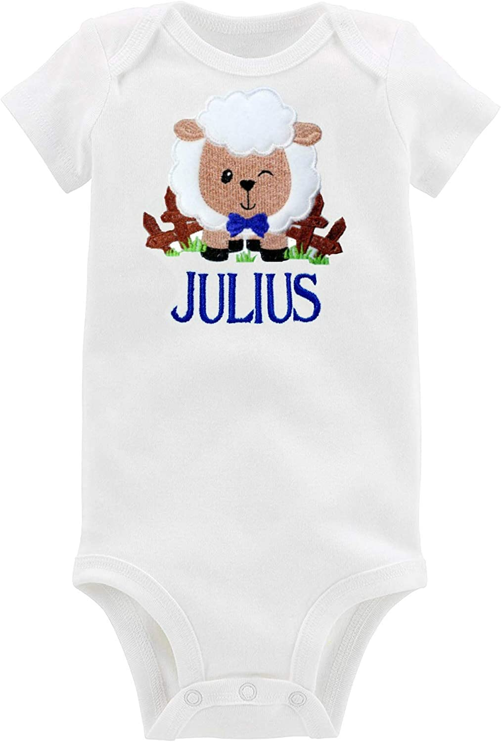 Personalised babies and todlers all in one outfit onsie any name 6 months-3 year
