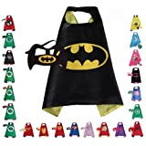 Children Super Hero Cape and Mask for Boys, Costume for Kids Birthday Party, Pretend Play, Dress Up