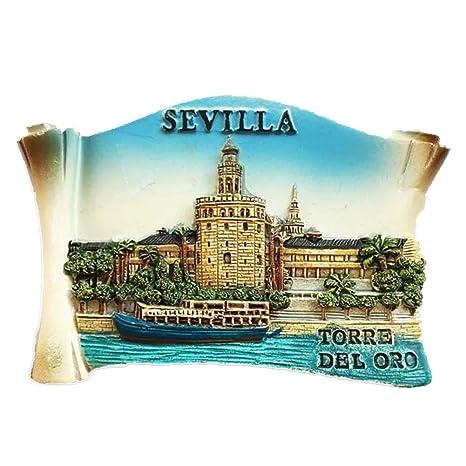 Weekinglo Souvenir Imán de Nevera Torre de Oro Sevilla ...
