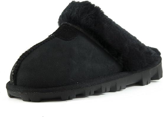 CLPP'LI Womens Slip on Faux Fur Warm