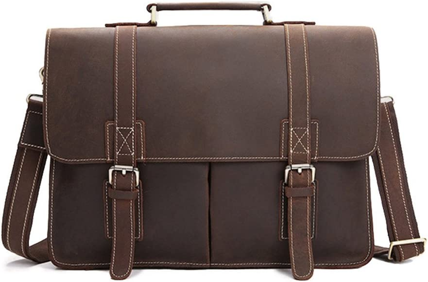 The first layer of leather business briefcase