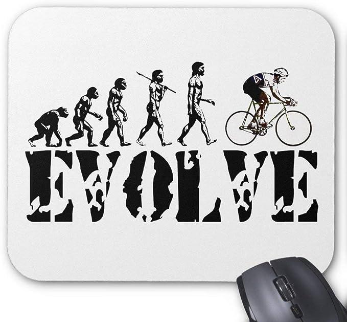 Alfombrilla de ratón para ciclismo de evolución de bicicleta: Amazon.es: Oficina y papelería