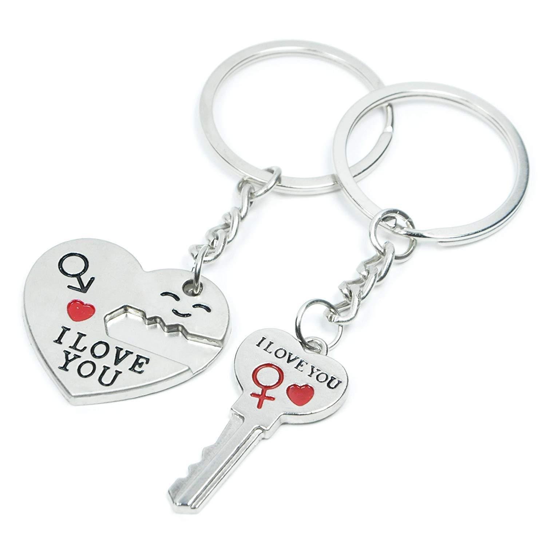 36cdb8c086 Amazon.com : SOSUO Love Key To My Heart Cute Couple Keychain Love Keychain  Key Ring : Automotive Key Chains : Office Products