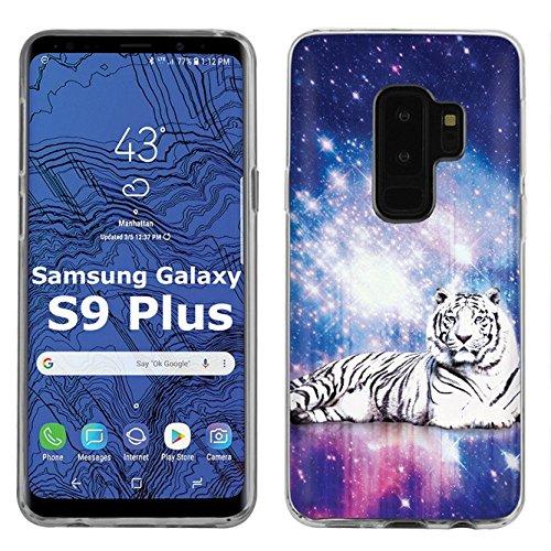 ([NaNo] Samsung Galaxy S9Plus / S9 PLUS (2018) Nano FLEXArmor Impact Absorption Black Bumper Gel Phone Case [Space Tiger Print] )