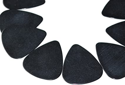 Hand Held Plectrum Tool String Instruments Music 100 x Black Guitar Picks