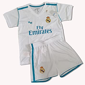 Equipación Infantil Réplica Oficial del Real Madrid Ronaldo Nº 7 Temporada 17/18 (Talla 4): Amazon.es: Deportes y aire libre