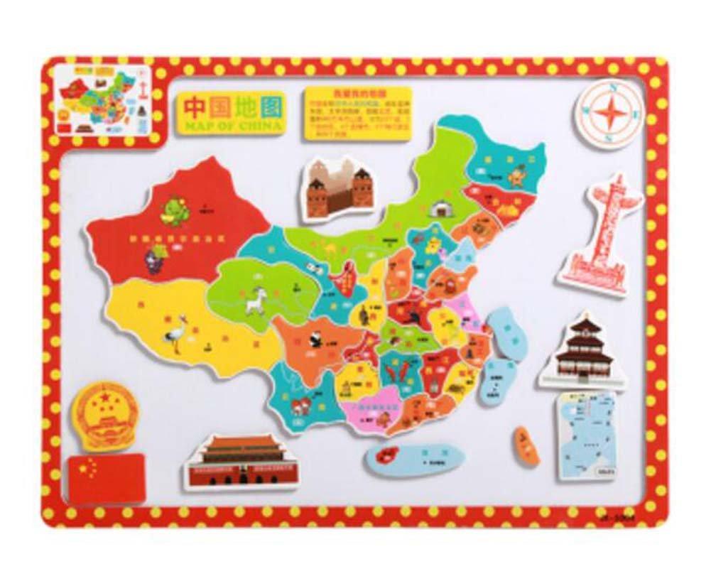 Encantador clásico ensamblando rompecabezas magnético juguetes educativos (Mapa de China) Black Temptation
