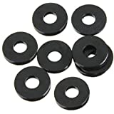 M3 x 6mm x 1mm Nylon Flat Insulating Washers Gaskets Spacers Black 200PCS S8S H1