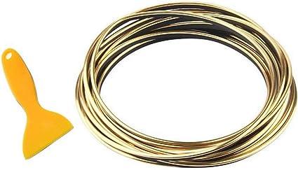 5 Colors Car Edging Trim Moulding Strips16.4ft Gap Filler Decorative Flexible Interior Moulding Trim Strip Line Universal Gap Garnish Accessory with Installing Tool silver