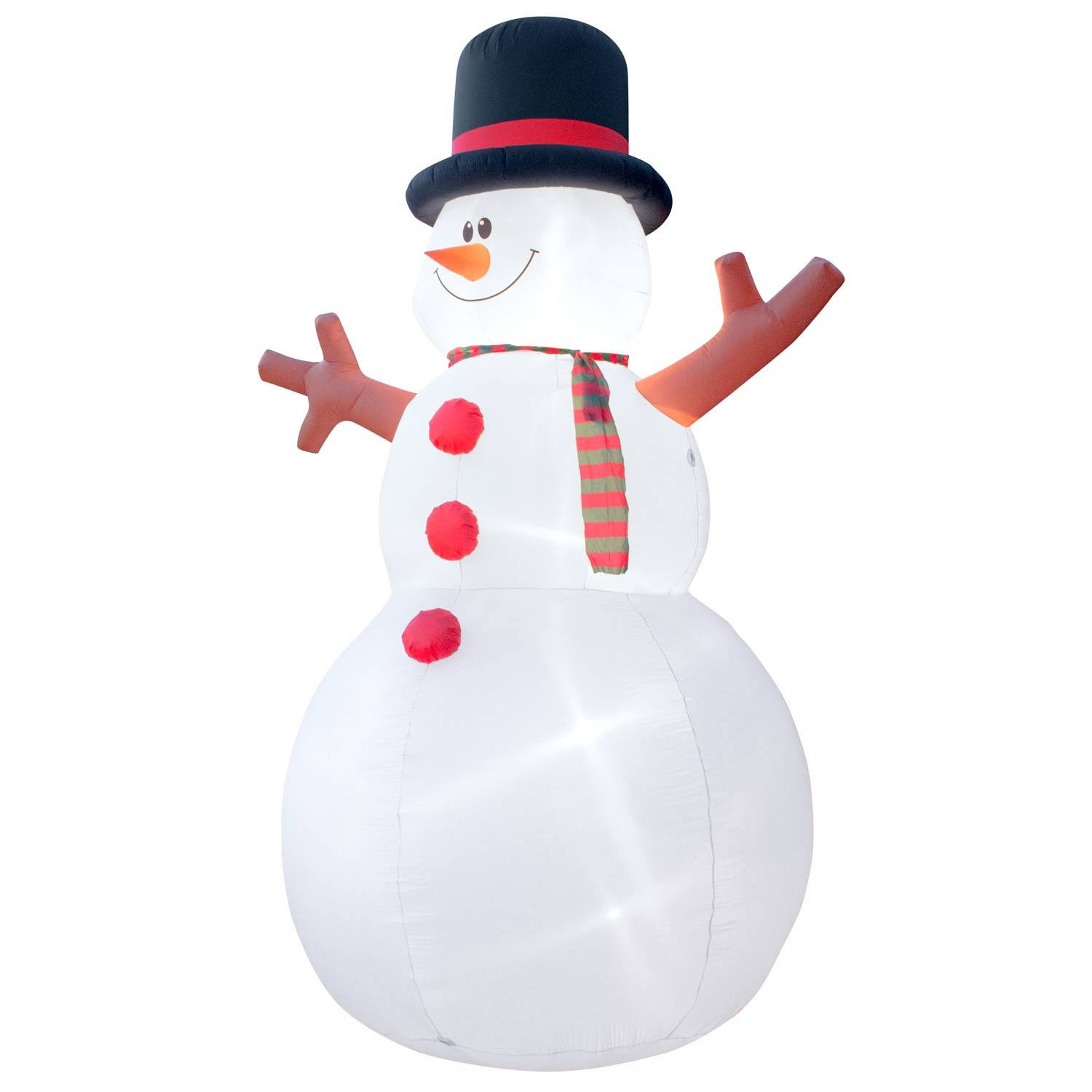 Holidayana Christmas Inflatable Giant 15 Ft. Snowman Inflatable Featuring Lighted Interior / Airblown Inflatable Christmas Decoration With Built In Fan And Anchor Ropes by Holidayana (Image #3)