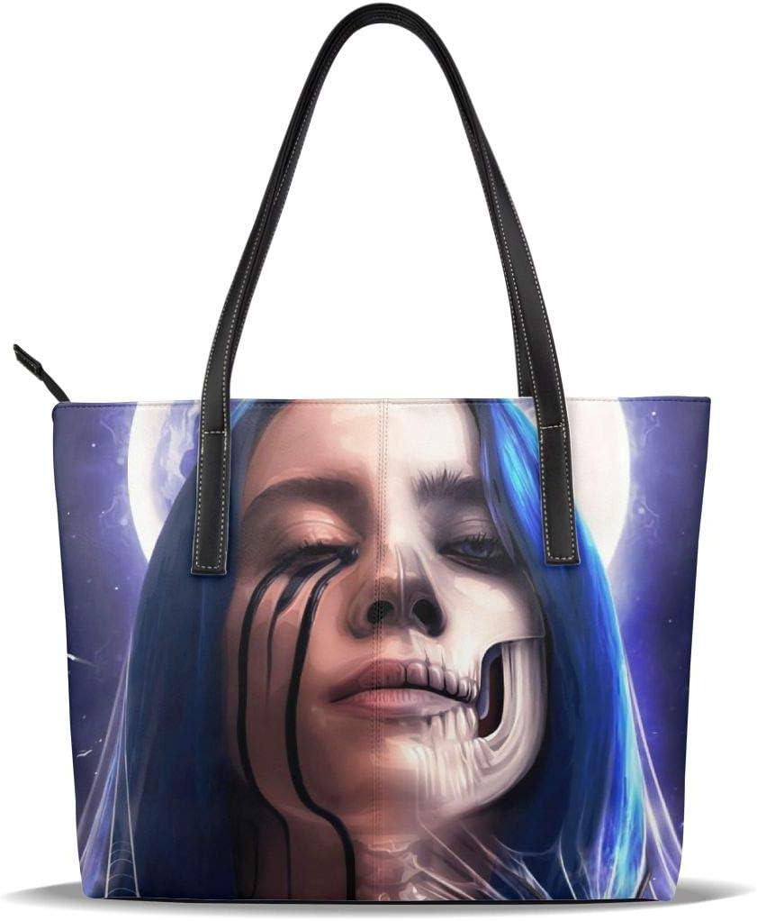 DaihAnle Billie Eilish Womens Fashion Top Handle Bag Shoulder Bag Handbag Shoulder Bag Handbag Wallet