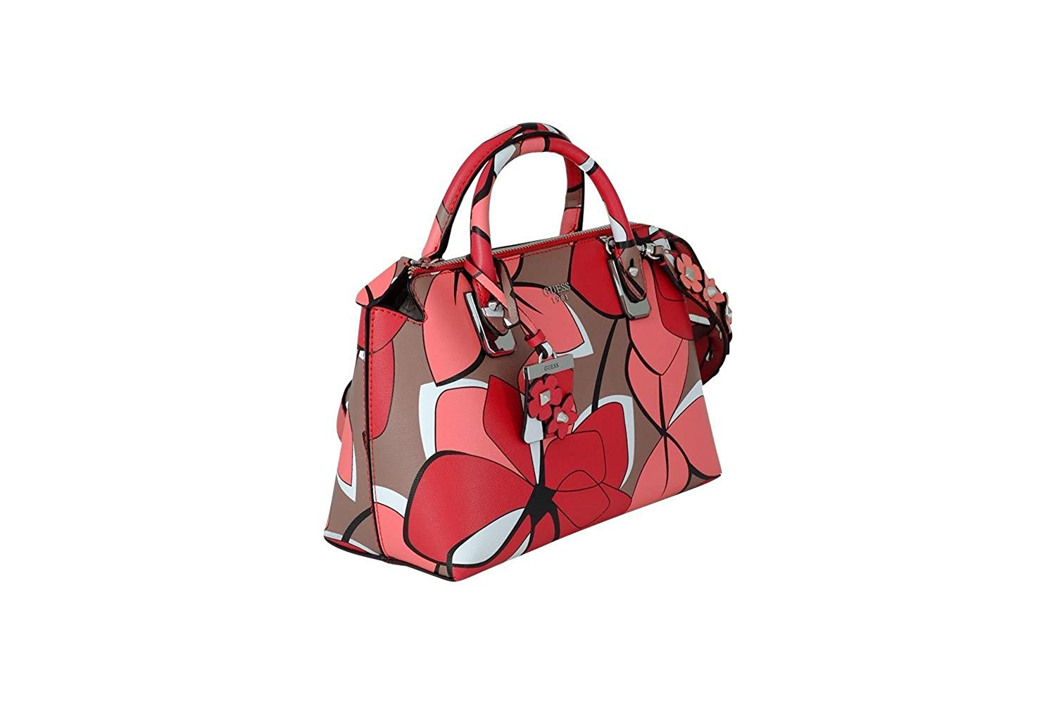 Guess Liya Satchel handbag red multicolor: Amazon.it