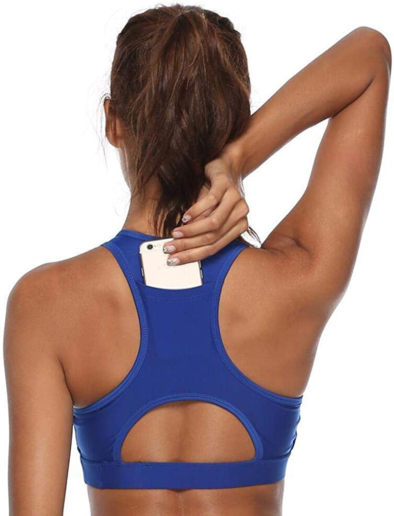 dalina Women Casual Workout Yoga Clothes Activewear Solid Sports Bra Sports Bras