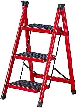 Escalera de mano Taburete plegable Escalera escalera plegable for el hogar taburete escalera mecánica multifunción engrosamiento pedal de hierro pedal escalera interior escalera escalera de tres escal: Amazon.es: Electrónica