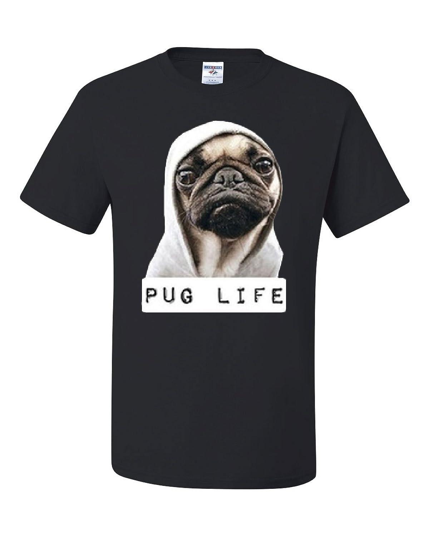 Pug Life Funny T-Shirt Dope Thug Life Dog Parody Hipster Tee Shirt