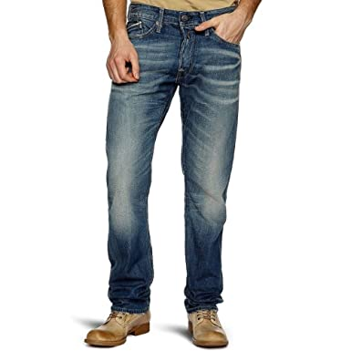 f57151be Replay Jeans Waitom Jeans M983 Mens Distressed Regular Slim Fit (32X32):  Amazon.co.uk: Clothing