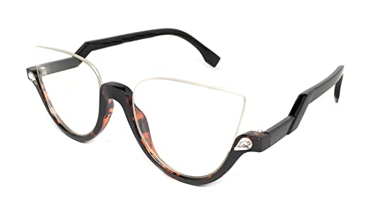 Amazon.com: WebDeals - Cateye Chic Modern Open Top Frame Sunglasses ...