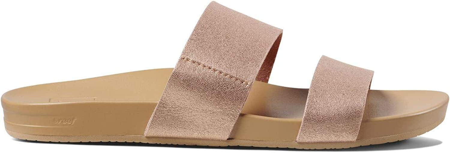 Vegan Leather Slides for Women With Cushion Bounce Footbed Reef Womens Sandals Vista